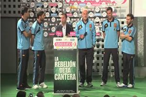 Vicente del Bosque, Juan Mata, Xabi Alonso, Sergio Busquets y Javi Martínez en la Gala de Futbol Draft 2012