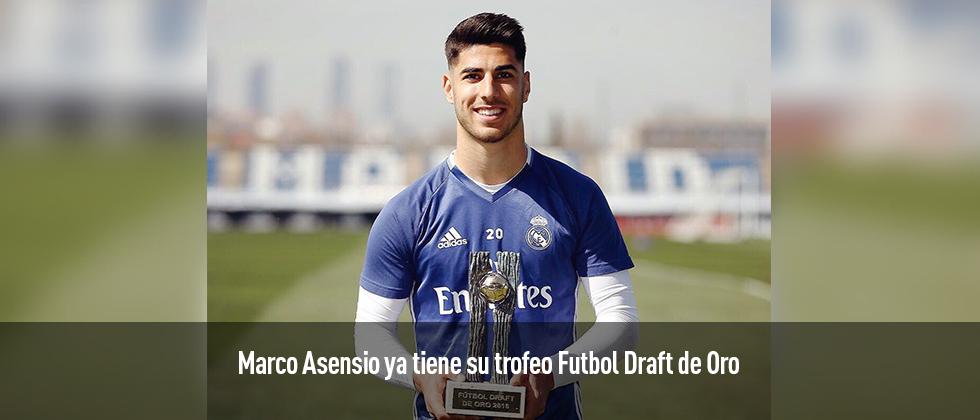 Marco Asenso ya tiene su trofeo Futbol Draft de Oro