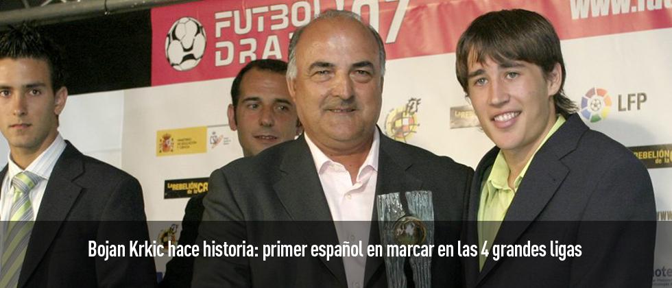 Bojan Krkic hace historia al ser el primer español en marcar en las 4 grandes ligas de Europa