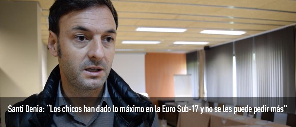 Santi Denia, seleccionador de la Sub-17 hace balance para Futbol Draft del Europeo en el que España se ha proclamado subcampeona.