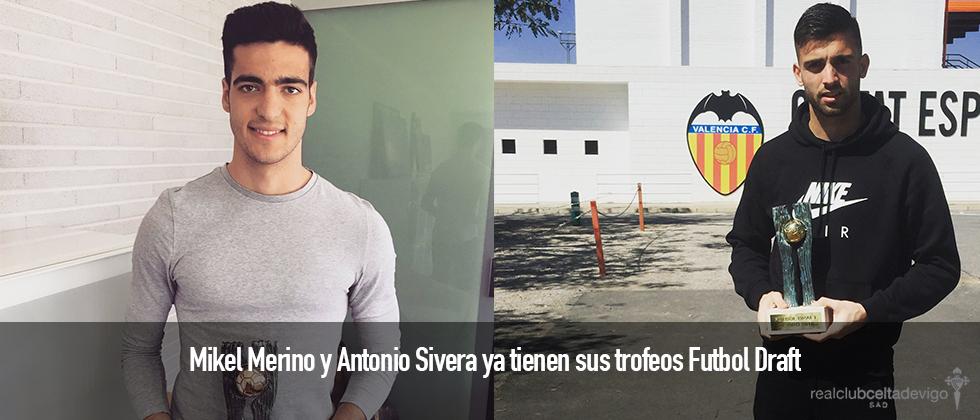 Mikel Merino y Antonio Sivera ya tienen sus trofeos Futbol Draft