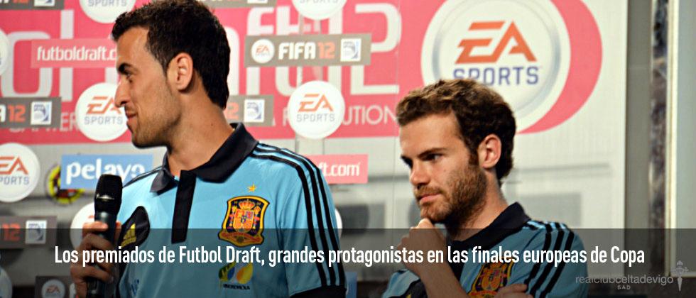 Los premiados de Futbol Draft, grandes protagonistas en las finales de Copa