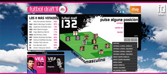 La afición elige un Once de EA SPORTS de lujo en Futbol Draft® 2011