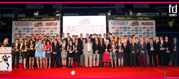 El Bernabéu volvió a vivir otra noche mágica con la Gala Futbol Draft® 2010