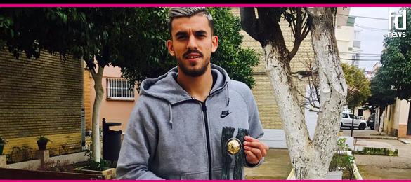Dani Ceballos recibe su premio Futbol Draft de Oro