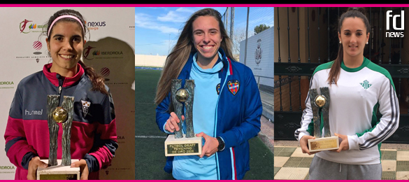 Alba Redondo, Maitane López y Paula Moreno reciben sus premios Futbol Draft