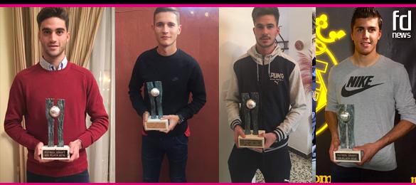David Carmona, Jorge Sáenz, José Carlos Ramírez y Rodrigo Hernández ya tienen sus trofeos Futbol Draft de Plata