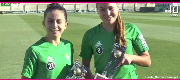 Paula Perea e Irene Guerrero ya han recibido sus premios Futbol Draft