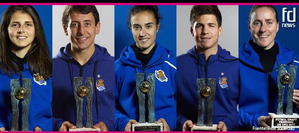 5 premios Futbol Draft para la Real Sociedad en 2017