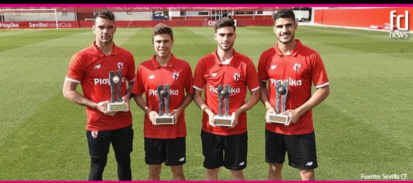Gran representación del Sevilla en los premios Futbol Draft® 2017